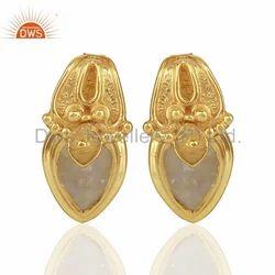 Handmade 925 Silver Girls Stud Earrings Jewelry