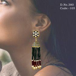 Designer Crystal Hanging Earrings