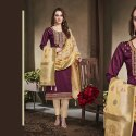 Fashionable Dress Material With Banarasi Dupatta