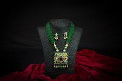 Designer Artificial Gothru Multi-Color Mala Necklace Set