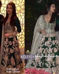Aishwarya Aver Green Fancy Gown