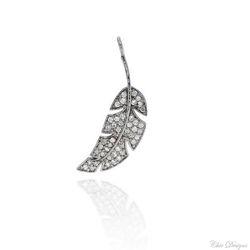 Pave Diamond Leaf Charm