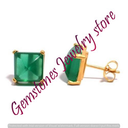 Green Onyx Gemstone Ear Stud