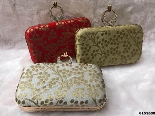 Fancy Embroidered Box Clutch
