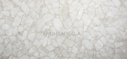 White Quartz Gemstone Slab