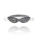 Diamond Glasses Charm Mid Ring