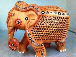 Wooden Undercut Star Elephant