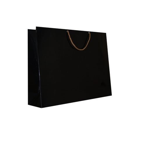 Whole Paper Bags Jet Black Colour Service Provider From Hyderabad