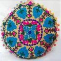 Designer Yellow Embroidered Cushion