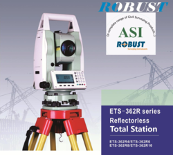 Robust Total Station with Pan Drive-Bluetooth Data Transfer