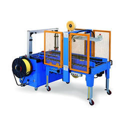 Fully Automatic Strapping Cum Taping Machine Combo Model