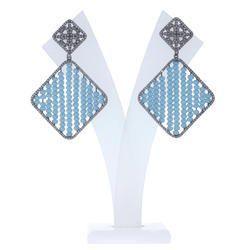 Pave Diamond Colour Bead Earrings