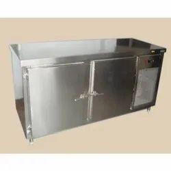 Stainless Steel Two Door Horizontal Freezer