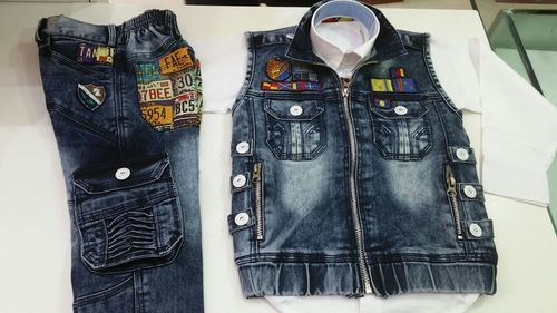 Denim Suit For Kids Denim Half Suit Manufacturer From Kolkata