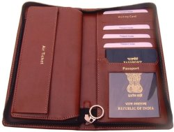 Leather Passport Travel Wallet
