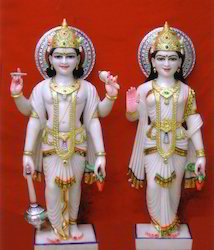 Marble Vishnu Laxmi Statue