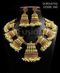 Rajwadi Indian Necklace Set