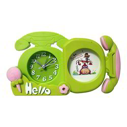 Telephone Shape Table Clock With Photo Decorative Gift Item
