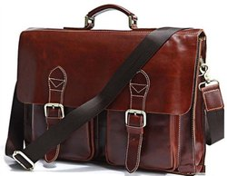 Leather Laptop Briefcase For Office