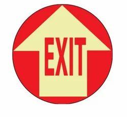Exit Floor Decal