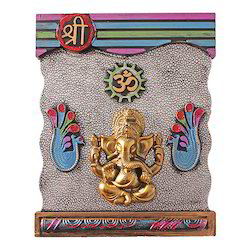 Shri Ganesha and OM Wall Hanging Statue Decorative Gift Item