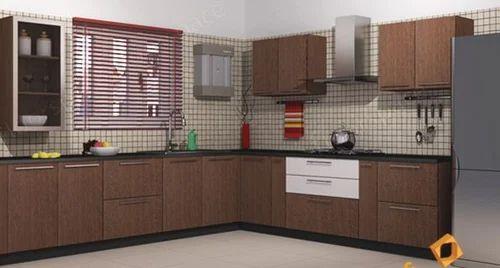 L-Shaped Kitchens - Abruzzo Alves Brown L-Shaped Kitchen Service ...