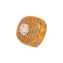 Unisex Kings Finger Ring for Mens Casting Made AD Stone