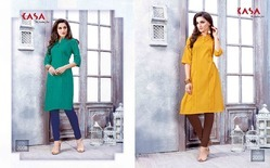 Pure Cotton Plain Kurti