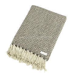 Herringbone Cotton Grey Throw Blankets