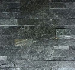 Silver grey slatestone wall panels / wall cladding tiles