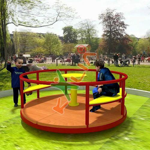 Playground Merry Go Round With Seats