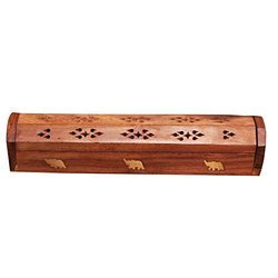 Wood Incense Coffin Box