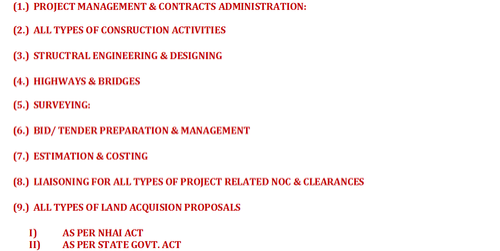 Consultancy Services Construction Project Management Consultant