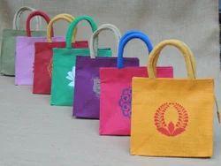 Cane Handle Jute Hand Bags