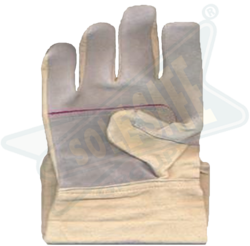 Leather Canvas Hand Gloves