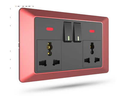 Gang Plate Series 13A Double Switch Socket Manufacturer Supplier