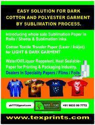 Sublimation Printing on Dark Cotton