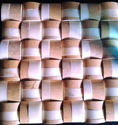Eta Gold and White Marble Mosaic tile for wall cladding