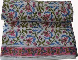 Hand Block Print Cotton Fabric Floral Jaipuri Print