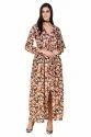Western Floral Slit Maxi Dress