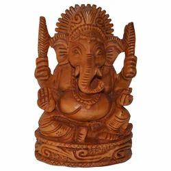 Wooden Open Ganesha Statue