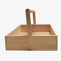 Wooden Tray Basket