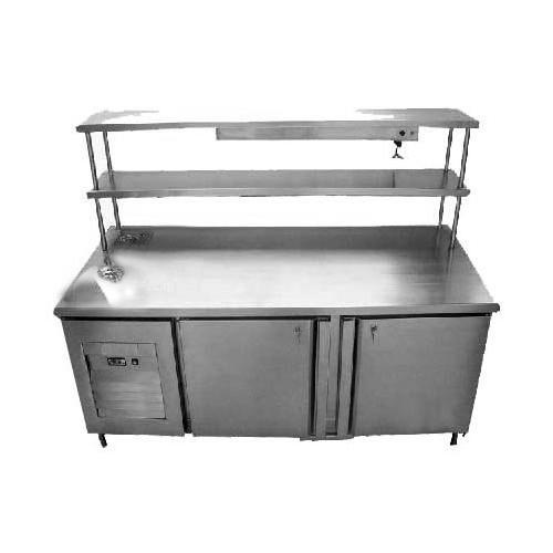 Stainless Steel Service Counter With Refrigerator