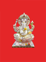 Stting Ganpati Beautifully Carved with Stones