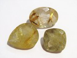 Golden Rutile Rutilated Quartz Loose Faceted Gemstone