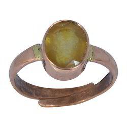 Yellow Sapphire ( Pukhraj ) Gemstone Adjustable Ring