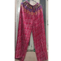 Ladies Red Printed Palazzo