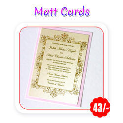 Multi Colors - Wedding (Matte - A4 Size/ 300 Gsm) Trifold
