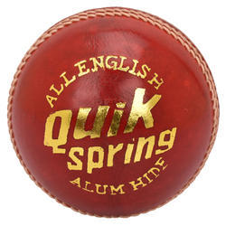 BDM Quick Spring Red Cricket Leather Ball