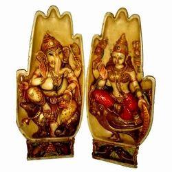 Resin Ganesha Laxmi Hand Statue
